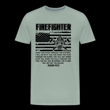 Firefighter Flag Shirt - Firefighter Flag T shirt - Men's Premium T-Shirt
