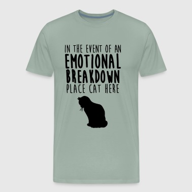 Emotional Breakdown Place Cat Here - Men's Premium T-Shirt