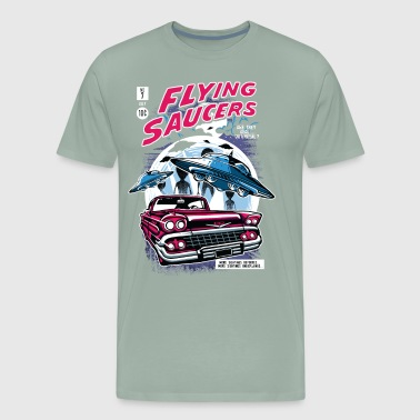 Flying Saucers Comic Book - Men's Premium T-Shirt