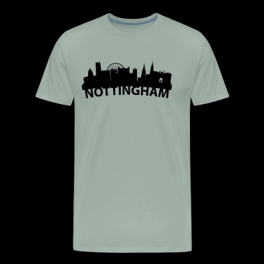 Arc Skyline Of Nottingham England - Men's Premium T-Shirt