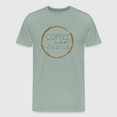 Coffee and Jesus - Men's Premium T-Shirt