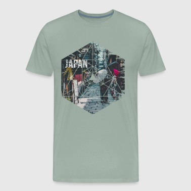 Vintage Geometric Streets of Japan Travel - Men's Premium T-Shirt