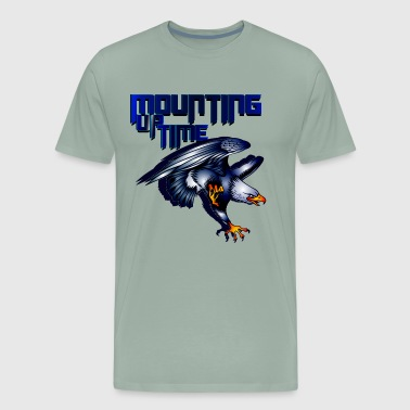 BLUE EAGLE MOUNTING UP AFAINST THE WIND GRAPHIC - Men's Premium T-Shirt