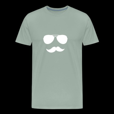 Mustache with sunglass - Men's Premium T-Shirt