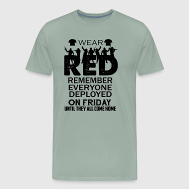 Red Fridays Wear Red On Friday Shirt - Men's Premium T-Shirt