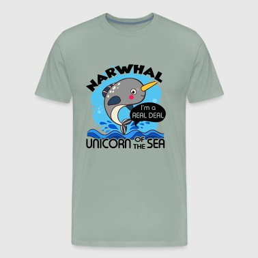 Narwhal Unicorn Of The Sea Shirt - Men's Premium T-Shirt