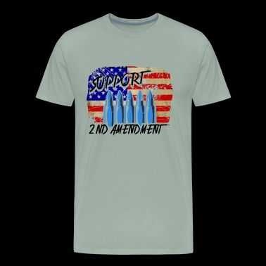 Support The 2nd Amendment Flag Shirt - Men's Premium T-Shirt