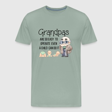Cute Grandpa Granddad Grandfather Shirts Gifts - Men's Premium T-Shirt