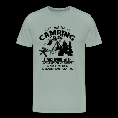Camping Shirt - I Am A Camping Lady T shirt - Men's Premium T-Shirt