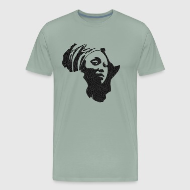 africa mama distressed - Men's Premium T-Shirt