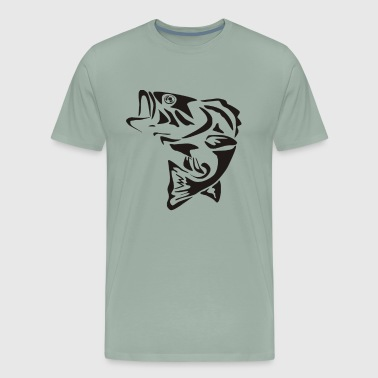 fish bone Tattoo Funny - Men's Premium T-Shirt