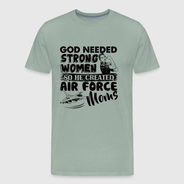 Air Force Mom Created By God Shirt - Men's Premium T-Shirt