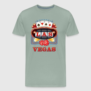 LAS VEGAS in Slot Casino Lights - Men's Premium T-Shirt