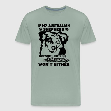 If My Australian Shepherd Ha Shirt - Men's Premium T-Shirt