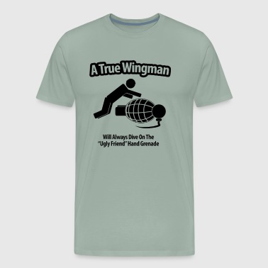A True Wingman Anf Ugly Friend - Men's Premium T-Shirt