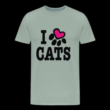 I heart cats - Men's Premium T-Shirt