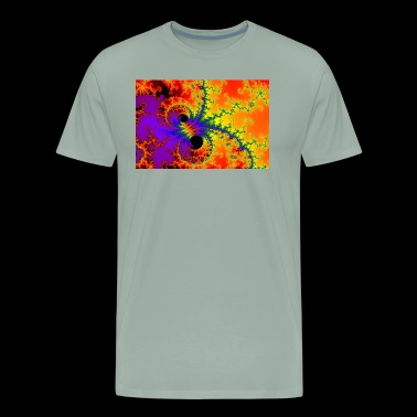 Julia Chaos Set Fractal in Rainbow Colors - Men's Premium T-Shirt