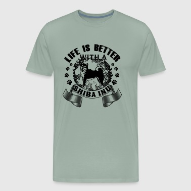 Life Is Better With A Shiba Inu Shirt - Men's Premium T-Shirt