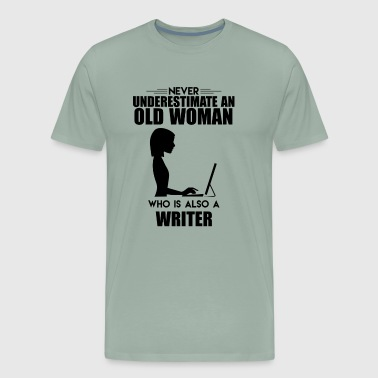 Old Woman Who Is Also A Writer Shirt - Men's Premium T-Shirt