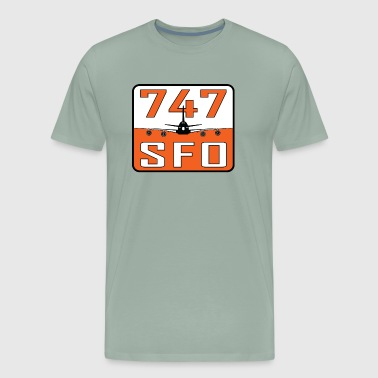 SFO 747 - Men's Premium T-Shirt