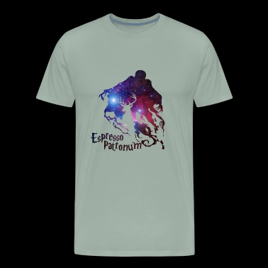 espresso patronum harry potter in galaxy - Men's Premium T-Shirt