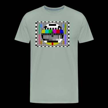 TV Video Test Pattern Screen - Men's Premium T-Shirt