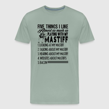 Playing With English Mastiff Shirt - Men's Premium T-Shirt