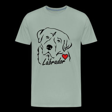 Labrador ❤ - Men's Premium T-Shirt