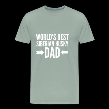Best Siberian Husky Dad - Men's Premium T-Shirt
