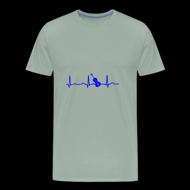GIFT - ECG GUITAR BLUE - Men's Premium T-Shirt