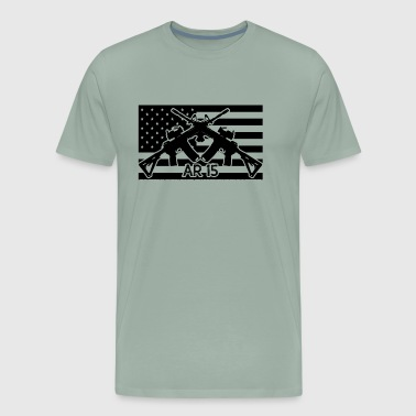 AR 15 Flag Shirt - Men's Premium T-Shirt