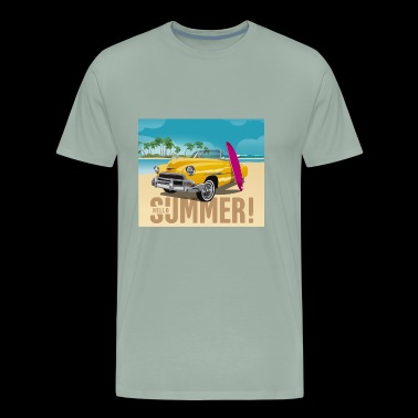 Surfing Tee Shirt Gift for men and women - Men's Premium T-Shirt