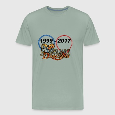 dueling dragons - Men's Premium T-Shirt