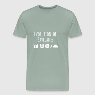 Evolution of Savegames! - Men's Premium T-Shirt