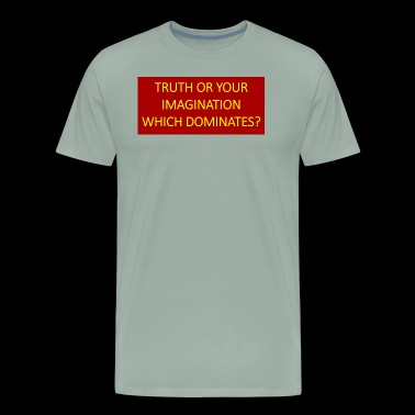 Truth or your imagination which dominates? - Men's Premium T-Shirt
