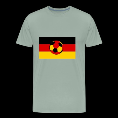 Germany flag and german ball - Men's Premium T-Shirt