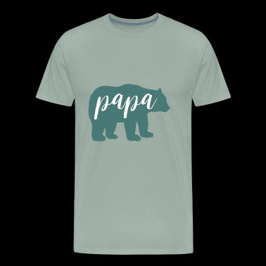 Papa Bear Father's Day Gift - Men's Premium T-Shirt