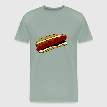 hotdog hot dog sausages fast food fastfood16 - Men's Premium T-Shirt