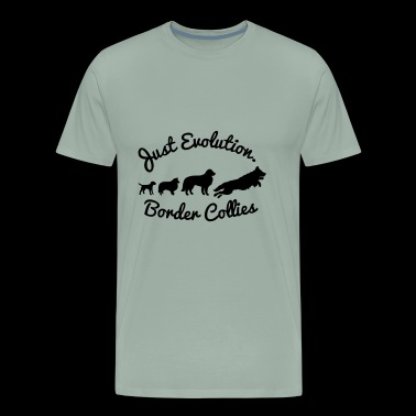 Border Collies - just evolution! - Men's Premium T-Shirt