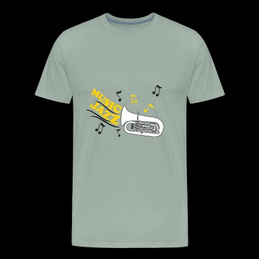 jazz music with trumpet - Men's Premium T-Shirt