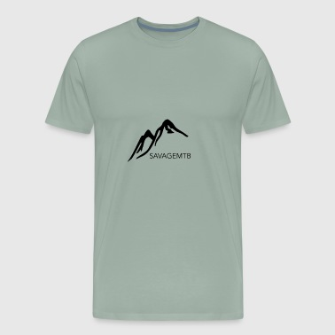 SAVAGE MTB ORIGINAL LOGO - Men's Premium T-Shirt