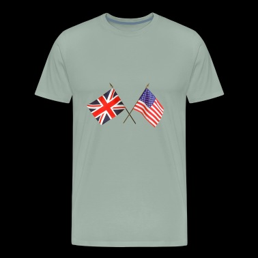 Great Britain & USA flag - Men's Premium T-Shirt