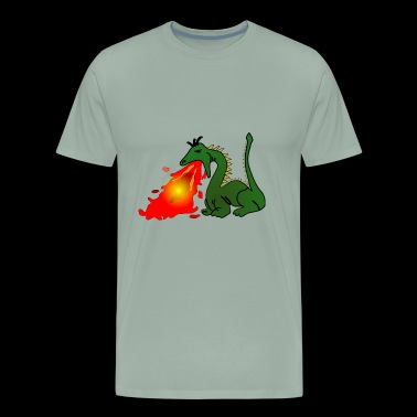 fire breathing dragon - Men's Premium T-Shirt
