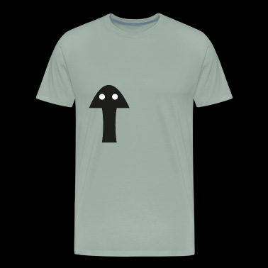Mushroom with two eyes - Men's Premium T-Shirt