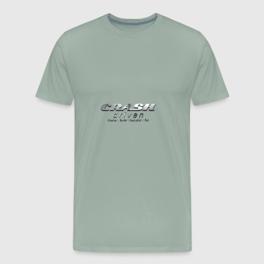 CRASH driven Logo Metal Finish - Men's Premium T-Shirt