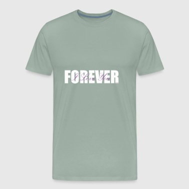 I LOVE YOU FOREVER Purple and White - Men's Premium T-Shirt