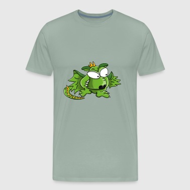 zombie monster robot dragon halloween1 - Men's Premium T-Shirt
