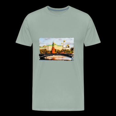 Moscow Kremlin In Autumn - Men's Premium T-Shirt