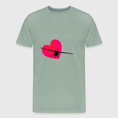 Cessna Airplane Love for Aviation lovers - Men's Premium T-Shirt