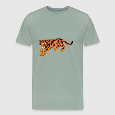 orange tiger - Men's Premium T-Shirt